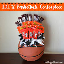 basketball centerpieces diy basketball centerpiece a candy bouquet