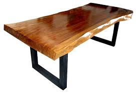 wood table with metal legs trembesi suar slab wood dining table metal leg modern contemporary
