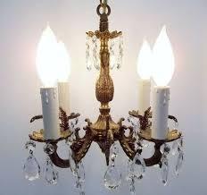 Aged Brass Chandelier Vintage 8 Lights Brass Color Chandelier L Inside And