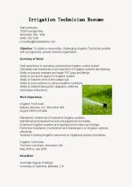 Service Technician Resume Sample by Resume Samples Irrigation Technician Resume Sample