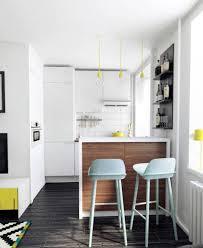 Interior Home Design Kitchen Apartment Cozy White Modern Kitchen Apartment In Small Space