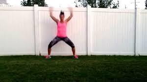 squat jacks to a spread eagle youtube