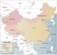 China On A Map by Lotusgemology Com