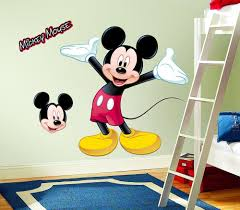 26 mickey mouse wall decal disney mickey mouse peeping car vinyl mickey mouse peel and stick giant wall decal wall decor stickers