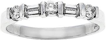 18k white gold wedding band 18k white gold 1 2ct baguette diamond wedding band scs637