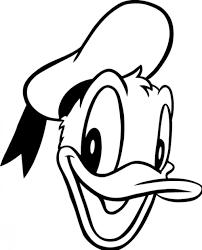donald duck clipart black white clipartfest donald duck
