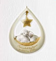 goddaughter ornament godchild 2010 hallmark ornament family boy girl lambs god