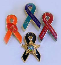 custom awareness ribbons custom awareness ribbon pins pins overnight