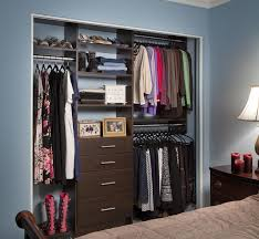 bedroom bedroom design idea with dark brown closet organizer
