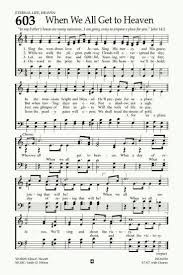 A Place Hymn When We All Get To Heaven Hymn Praise Songs