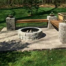 Brick Paver Patio Design Ideas Small Brick Pavers Patio With Pit Patio