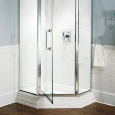 38 Shower Door Frameless Neo Angle Shower Door Glass Accents Neo Angle Shower