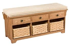 Wooden Entryway Bench Amish Storage Bench Wooden Entryway Benches Baskets Upholstered