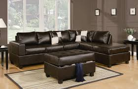 Black Leather Sofa With Chaise Sacramento Espresso Leather Sectional Sofa With Left Facing Chaise