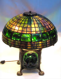 Tiffany Table Lamps In The Manner Of Tiffany Studios 16 Inch Turtleback Table Lamp