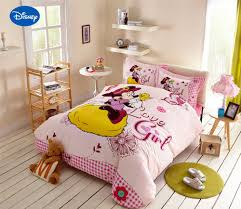 minnie mouse bedding promotion shop for promotional minnie mouse minnie mouse comforter sets cartoon disney bedding textile girl s bedroom decor single twin queen pink sanding cotton warm soft