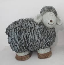 2 slate sheep ornaments clearview marketing