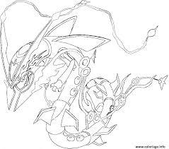 coloriage pokemon mega rayquaza 1 dessin