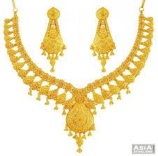 yellow gold necklace sets images Unique yellow gold necklace set 22k ajns57666 22k gold jpg