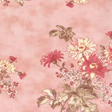 Large Floral Print Curtains Moda Lario 2531 Large Floral Print On Pink Background 100