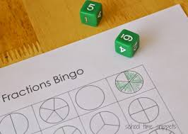 fractions bingo game free printable gameboards time