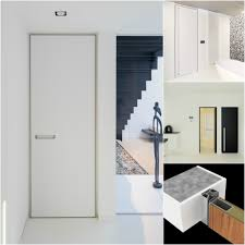modern interior doors custom made with a minimalist door frame