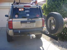 jeep tire carrier rear hitch tire carrier jeep commander forums jeep commander forum