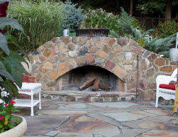 Outdoor Fireplaces And Firepits Pit And Outdoor Fireplace Contractors Plus Sitting Walls And