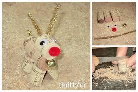 a wine cork reindeer thriftyfun