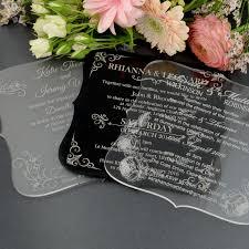 acrylic wedding invitations clear acrylic wedding invitation acrylic wedding