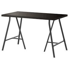 Ikea Desk Linnmon Lerberg Table Black Brown Gray Ikea