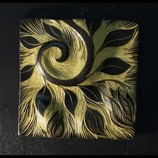 wall art decor ideas green abstract ceramic wall tile art pattern