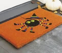 spooky spider doormat is perfect for halloween