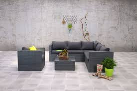 Garten Loungemobel Anthrazit Montana Polyrattan Ecklounge Gartenmöbel Sitzgruppe Grau Lounge