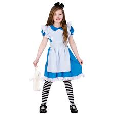 childrens girls classic storybook alice fancy dress up halloween