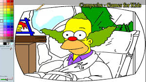 simpsons online coloring pages krusty 22 youtube