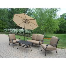 Albertsons Patio Set by Hampton Bay Mill Valley 4 Piece Patio Sectional Set With Parchment