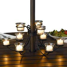Outdoor Table Umbrella Nine Candle Candelabra For Outdoor Tables Patio Table