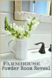 Powder Room Table Farmhouse Powder Room Reveal Stonegable