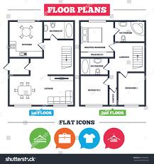 kosher kitchen floor plan architecture plan furniture house floor plan stock vector