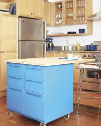 Kitchen Island Metal Two Cabinet Island Using Old Metal File Cabinets Add Casters