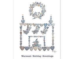 Nautical Themed Christmas Cards - sailboat christmas card deck the hulls card coastal holiday