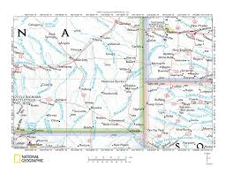 Montana Topographic Map by Powder River Little Powder River Drainage Divide Area Landform