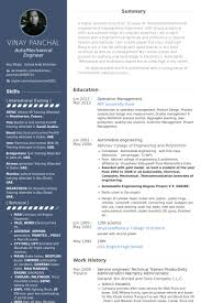 Creative Engineering Resume Glamorous Automobile Service Engineer Resume Sample 37 For Your