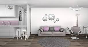 deco salon gris et taupe indogate com deco salon moderne violet