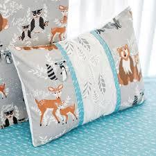 Nursery Decorative Pillows Woodland Pillow Nursery Pillows Gray Pillow