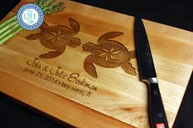 wedding cutting board personalized cutting board boos sea turtles gift the