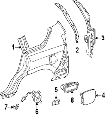 lexus is300 quarter panel browse a sub category to buy parts from mopardirectparts com