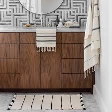 Black Bathroom Rug Moroccan Bath Rug Ivory And Black Bathroom Rugs The Citizenry