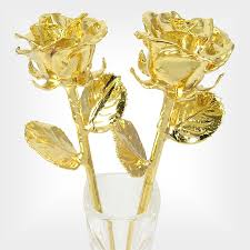 Rose Dipped In Gold 50th Anniversary Gift Gold Dipped Roses Princess Vase Love Is A Rose